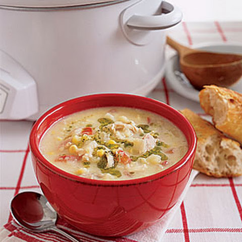 Potato, Corn and Chicken Chowder