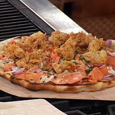 Grilled Pizza with Smoked Salmon Topping