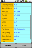 Screenshot of GPS Nmea Monitor