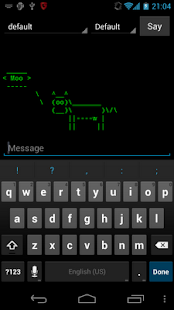 Cowsay for Android - screenshot