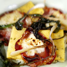 Polenta with Capocollo, Robiola, and Ramps