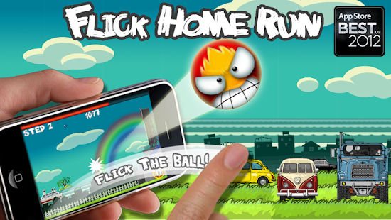 Free Download Flick Home Run! baseball game APK for Samsung