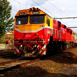 V-Line N453 by Peter Keast - Transportation Trains ( diesel, commuter, train, transportation, motorrail )