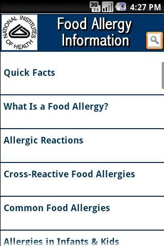 NIH: Food Allergy Information