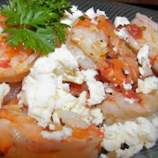 Tomato Shrimp With Feta Cheese