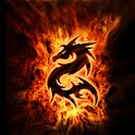 3D fire dragon 66 icon