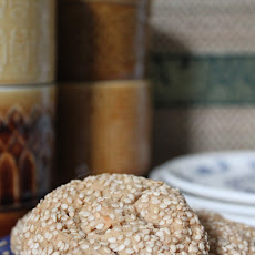 Peanut Butter And Sesame Cookies