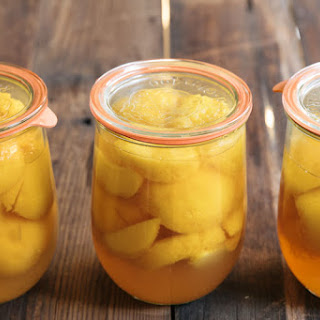Honey Bourbon Canned Peaches