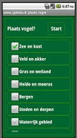 Screenshot of Vogels in Nederland