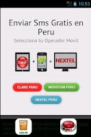 Screenshot of mensajes gratis peru movistar