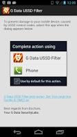 Screenshot of G Data USSD Filter
