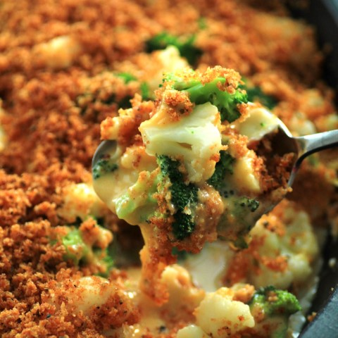 Broccoli and Cauliflower Cheese Bake