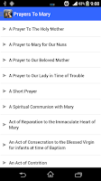 Screenshot of Prayers to Mary