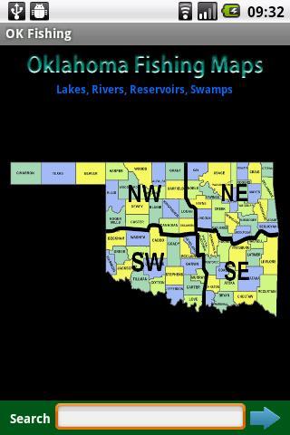 Oklahoma Fishing Maps - 12.5K