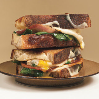 Grilled Cheese and Fried Egg Sandwiches