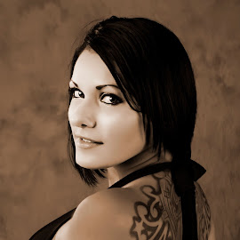 sepia tone. by Steve Forbes - People Portraits of Women