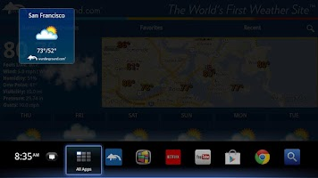 Screenshot of Weather Underground TV