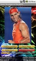 Screenshot of Tennis Players Quiz