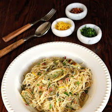 Lemon Butter Pasta with Artichokes and Capers