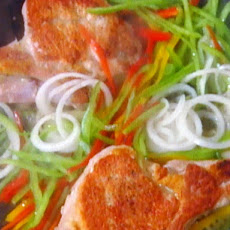 Zingara (Pork Chops with Peppers and Capers)