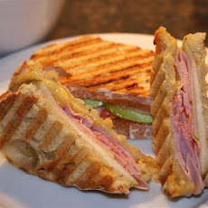 Sweet and Spicy Ham and Cheese Panini