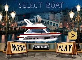 Screenshot of cabin cruiser 3D boat sim game