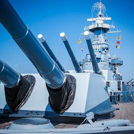 FIRE by Shawn Klawitter - Transportation Boats ( wss north carolina, navy, boat, battleship, war, military )