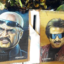 Superstar Rajinikanth by Maintain Silence - Painting All Painting ( sivaji, rajinikanth, lingaa, kollywood, actor, tamil, baasha, enthiran, superstar )