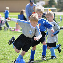 Watch me make the goal by Dennis McClintock - Sports & Fitness Soccer/Association football ( children candid, sports, youth soccer, youth sports challenge, soccer )