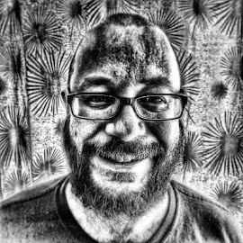 by Jonny Wood - Instagram & Mobile Android ( selfie, blackandwhiteselfie )