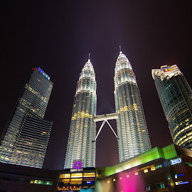 Twin Tower by Jacky Chong - City,  Street & Park  Skylines ( twin, klcc, tower, skyscraper, park,  )