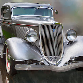 Restored Beauty by Tom Reiman - Transportation Automobiles ( car, automobile, silver, ford, restored )
