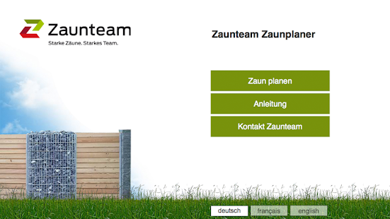 Zaunteam fence planner- screenshot thumbnail