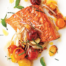 Arctic Char with Blistered Cherry Tomatoes