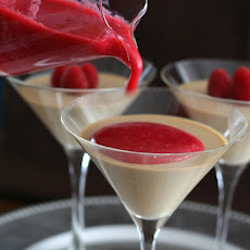 Coffee Panna Cotta with Raspberry Coulis – Low Carb and Gluten-Free