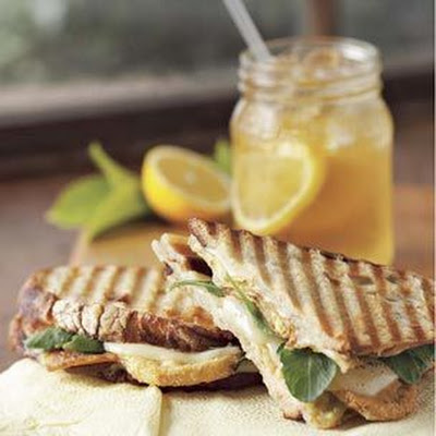 Fried Green Tomato and Pancetta Panini
