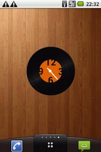 Vinyl record clock widget - screenshot