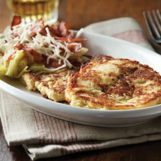 Ricotta Pancakes with Cheesy Leeks & Turkey Bacon