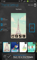Screenshot of The Paris Atom theme (free)