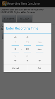 Screenshot of Recording Time Calculator