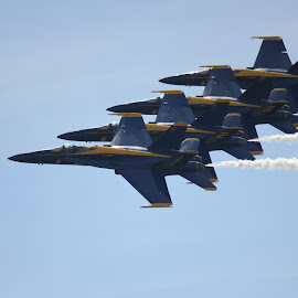 Blue Angels, Cleveland, OH air show by Mike Watiker - Transportation Airplanes ( blue angles, navy, fighter, jet )