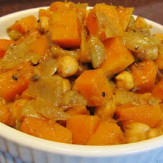 Bengali Butternut Squash and Chickpeas Garbanzos