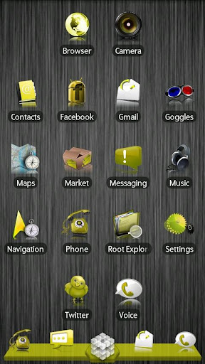 Yellow ADW Theme