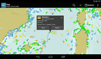 Screenshot of VesselFinder Pro
