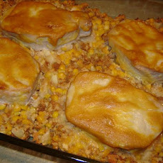 Pork Chop and Corn Stuffing Bake