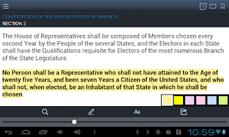Screenshot of SmartLeges Law Reader