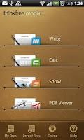 Screenshot of ThinkFree Office Mobile