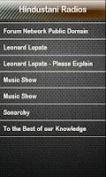 Screenshot of Hindustani Radio Radios