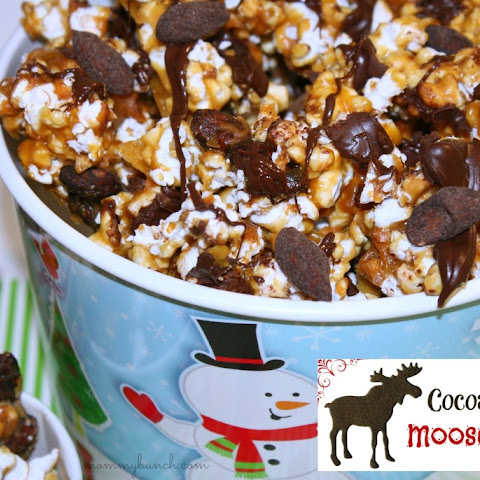 Homemade Moose Munch Caramel Corn with Cocoa Almonds