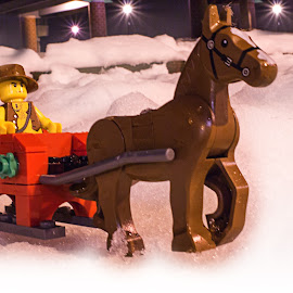 sleigh ride by Shelby Taylor - Artistic Objects Toys ( cowboy, snow, sleigh, christmas, lego,  )